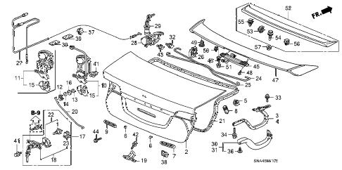 Honda online store : 2006 civic trunk lid parts