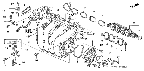 Honda online store : 2008 civic intake manifold (1.8l) parts