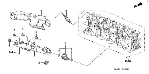 Honda online store : 2008 civic fuel injector (1.8l) parts