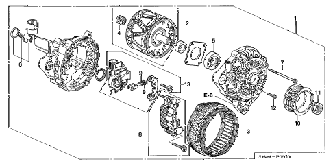 Honda online store : 2008 civic alternator (mitsubishi) (1