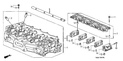 Honda online store : 2007 civic cylinder head (1.8l) parts