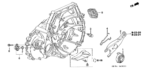 Honda online store : 2006 civic clutch release (1.8l) parts