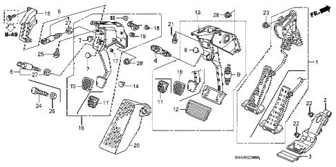 Honda online store : 2009 civic pedal parts