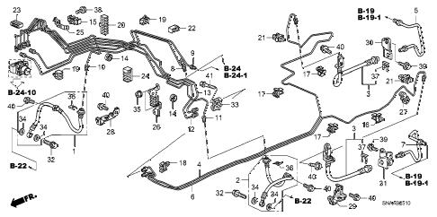 Honda online store : 2009 civic brake lines (abs) (drum) parts