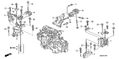 Honda online store : 2009 civic engine mounts (at) parts
