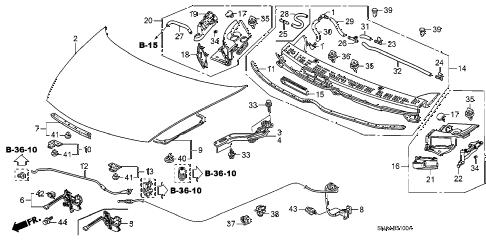 Honda online store : 2009 civic engine hood parts