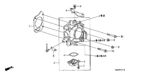 Honda online store : 2009 civic throttle body (2.0l) parts