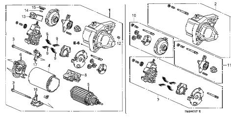Honda online store : 2009 civic starter motor (mitsuba) (1