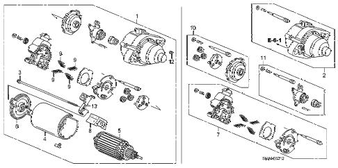 Honda online store : 2009 civic starter motor (mitsuba) (2