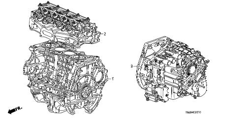 Honda online store : 2009 civic engine assy