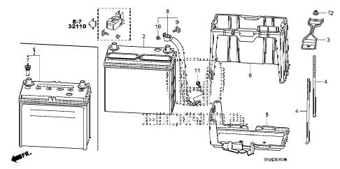 Honda online store : 2010 civic battery (1.8l) parts