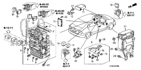 Honda online store : 2010 civic control unit (cabin) (1) parts