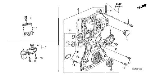 Honda online store : 2011 civic oil pump (1.8l) parts