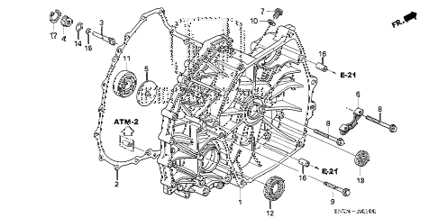 Honda online store : 2008 civic flywheel case parts