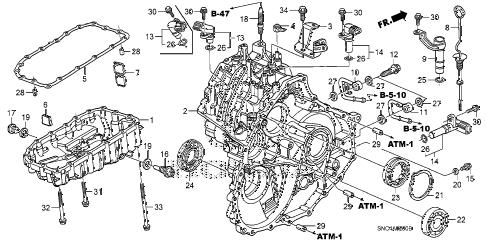 Honda online store : 2006 civic transmission case parts