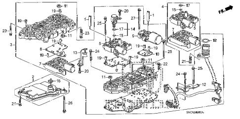 Honda online store : 2011 civic valve body parts
