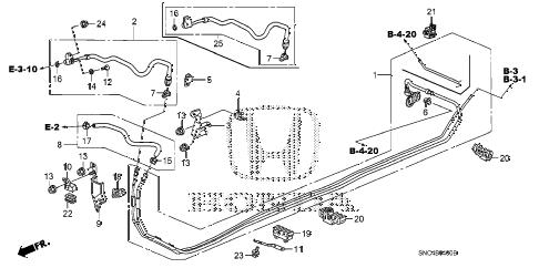 Honda online store : 2006 civic fuel pipe parts