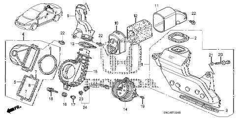 Honda online store : 2007 civic ima pdu cooling unit parts