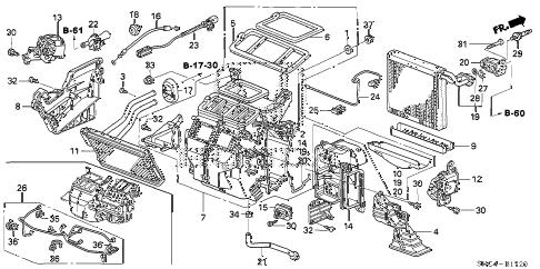 Honda online store : 2010 civic heater unit parts