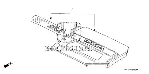 Honda online store : 2007 civic engine cover parts