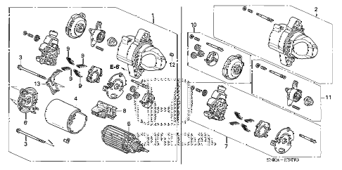 Honda online store : 2007 civic starter motor (mitsuba) parts