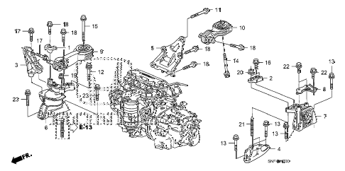 Honda online store : 2011 civic engine mounts parts