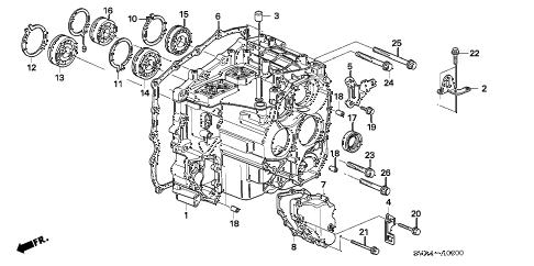 Honda online store : 2007 civic transmission case parts