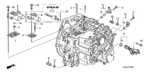 Honda online store : 2006 civic solenoid parts