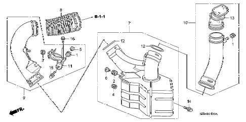 Honda online store : 2006 civic resonator chamber (2.0l) parts
