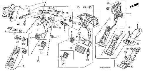 Honda online store : 2007 civic pedal parts