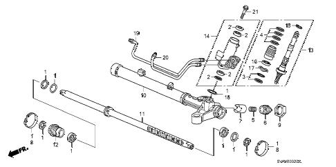Honda online store : 2006 civic p.s. gear box components