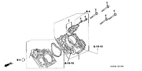 Honda online store : 2006 civic throttle body (1.8l) parts