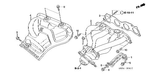 Honda online store : 2007 civic exhaust manifold (2.0l) parts