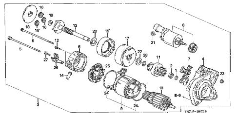 Honda online store : 2006 civic starter motor (denso) (1