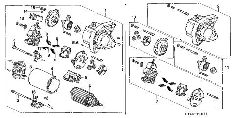 Honda online store : 2006 civic starter motor (mitsuba) (1