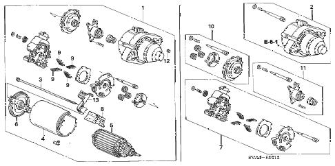 Honda online store : 2007 civic starter motor (mitsuba) (2