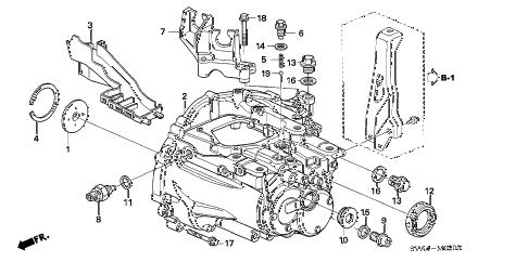 Honda online store : 2008 civic transmission case (1.8l) parts