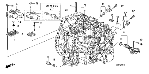 Honda online store : 2011 civic at solenoid parts