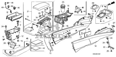 Honda online store : 2010 civic console parts