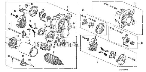 Honda online store : 2011 civic starter motor (mitsuba) (1