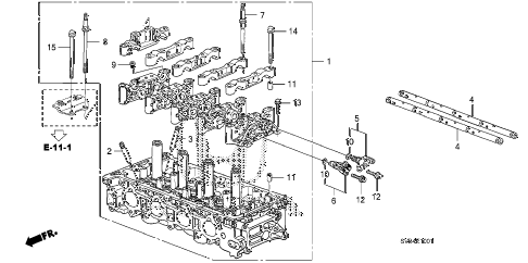 Honda online store : 2010 civic cylinder head (2.0l) parts