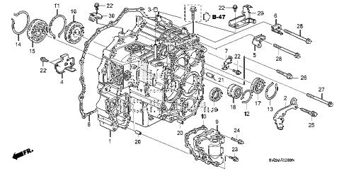 Honda online store : 2009 crv at transmission case parts