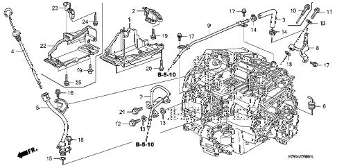 Honda online store : 2008 crv at atf pipe parts