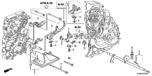 Honda online store : 2008 crv at shift fork parts