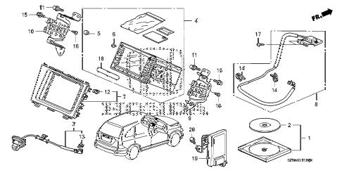 Honda online store : 2008 crv navigation system parts