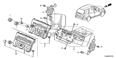 Honda online store : 2011 crv auto radio (1) parts