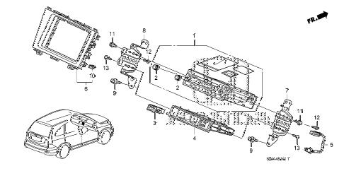 Honda online store : 2008 crv auto radio (2) parts