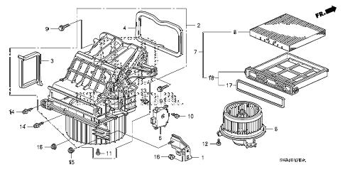 Honda online store : 2010 crv heater blower parts
