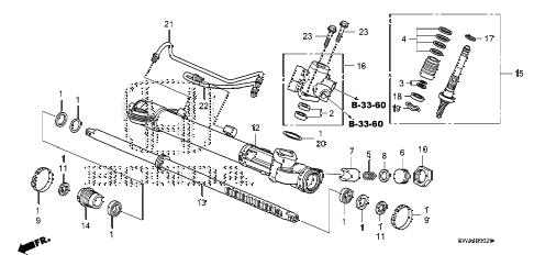 Honda online store : 2008 crv p.s. gear box components parts