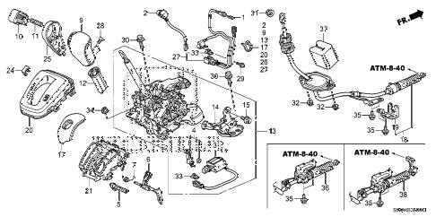 Honda online store : 2011 crv select lever parts